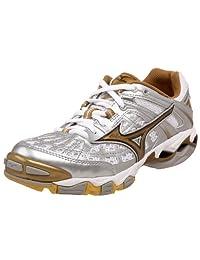 Mizuno Women's Wave Lightning 5 Volleyball Shoe,Silver/Gold,11 M