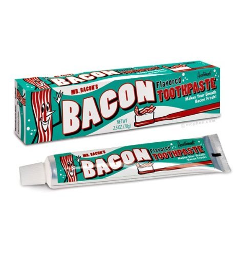 Accoutrements Mr. Bacon's 2.5 Oz Bacon Flavored Toothpaste (Pack of 2) - 2 Pack Bacon