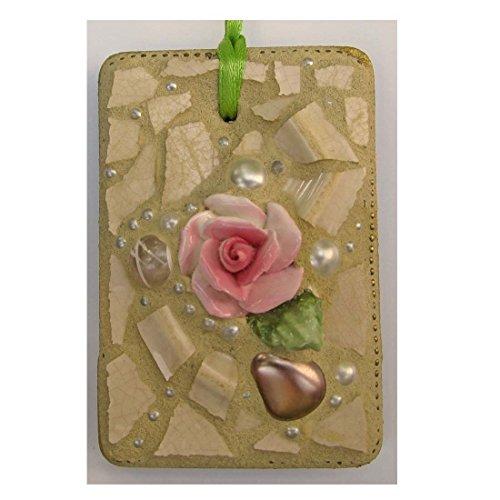 Shabby Chic Antique Rose Vintage Broken China Mosaic (Rose Broken China Mosaic)