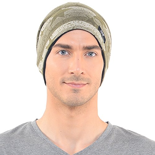 7e435150165 Mens Camouflage Thin Slouchy Beanie Cap Hat Oversize (One - Import ...