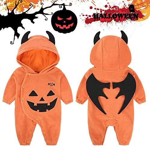 YONEER Niños Halloween Mono Niño Bonito Diablo Disfraz Manga Larga ...