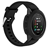 Sunbona Garmin Fenix Watch Screen Protective Case, Screen Protector Soft Silicone TPU All-Around Thicken Cover Casing Guard for Garmin Fenix 5 GPS Watch Band, Anti-Fall, Scratch Resistant (Black)