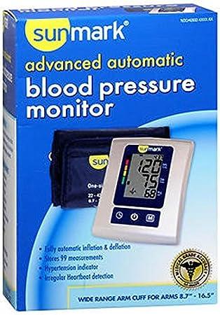 Amazon.com: sunmark Advanced, tensiómetro automático – 1 CT ...