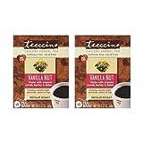 Teeccino - Vanilla Nut 75% Organic Herbal Coffee Medium Roast Caffeine Free - 10 Tee Bags (Pack of 2)
