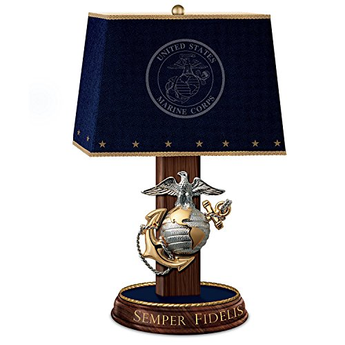 United States Marine Corps Lamp with Eagle, Globe, and An...