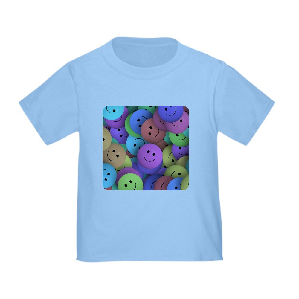 Truly Teague Toddler T-Shirt Lots of Pastel Smiley Faces