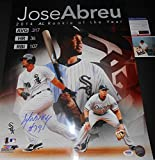 "Jose Abreu Chicago White Sox PSA DNA ""IN The Presence COA"" Autographed Signed Licensed ROY 16x20 Photo"