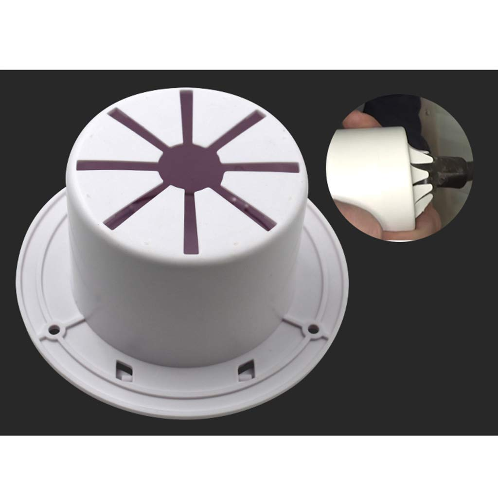 Fit for 30 /& 50 Amp Cords 5.2 inch H HILABEE White Round Electric Cable Hatch with Back for RV Camper Flip Up