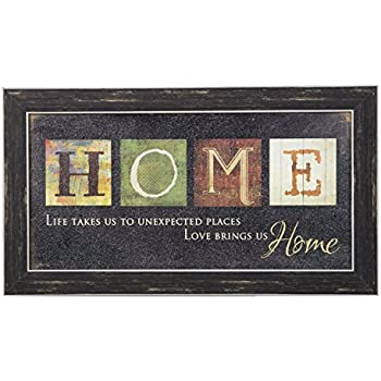 danya b this is my happy place sectioned wooden wall plaque home kitchen. Black Bedroom Furniture Sets. Home Design Ideas