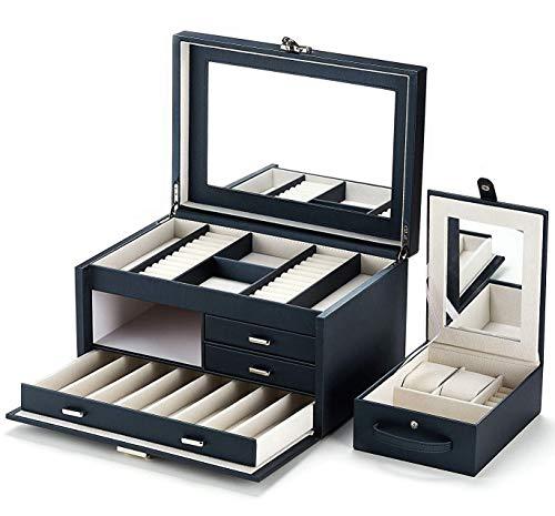 Kendal Huge Leather Jewelry Box Case Storage