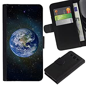 All Phone Most Case / Oferta Especial Cáscara Funda de cuero Monedero Cubierta de proteccion Caso / Wallet Case for Samsung Galaxy S3 III I9300 // Planet Earth Space Photo