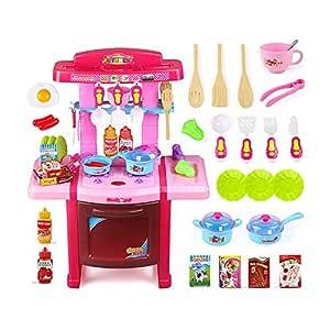 YRE Juguetes de rol para niños, Juegos de Mesa de Cocina bombeada ...