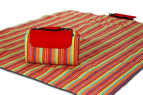 Mega Mat 100% Waterproof Backing All Season Picnic Blanket, Beach Mat and More Opens to 68