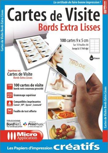 Cartes De Visite Bords Extra Lisses Amazonfr High Tech