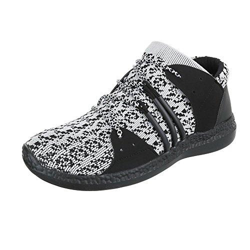 Ital-Design - Zapatillas altas Hombre gris/negro