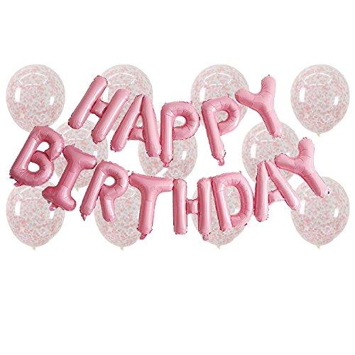 Happy Birthday Balloon Banner + 12