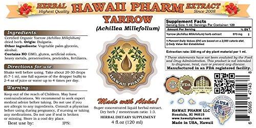 Yarrow-Liquid-Extract-Organic-Yarrow-Achillea-millefolium-Tincture-Herbal-Supplement-Hawaii-Pharm-Made-in-USA-32-floz
