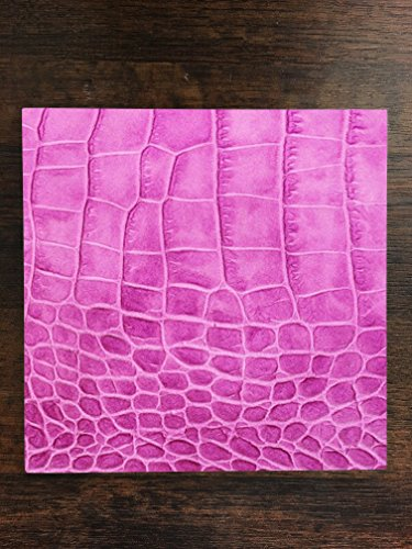 Pink Crocodile Leather Print Pattern Background One Piece Premium Ceramic Tile Coaster 4.25