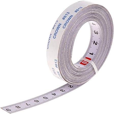 Acier Ruban à mesurer auto-adhésif Métal ruban à mesurer gauche à droite 100 cm