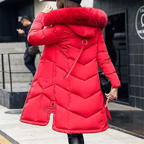 Taille pais Automne Zipp Fourrure Mode en Chic Couleur2 Manteau Capuche Photo Chaud Long Hiver Mi Femme Grande Parka Doudoune Blouson Fanessy TwqxUBnan