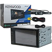 Kenwood DDX25BT Car audio Double Din 2DIN 6.2 Touchscreen DVD MP3 CD stereo Bluetooth & DCO Waterproof Backup Camera with Nightvision
