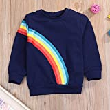 Younger star Baby Girls Springtime Soft Rainbow Top