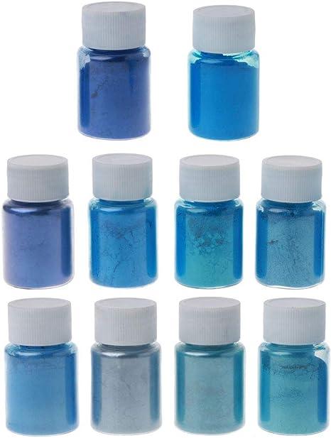 ATATMOUNT 10 Colores Azul mar Mica en Polvo Perla Pigmento ...