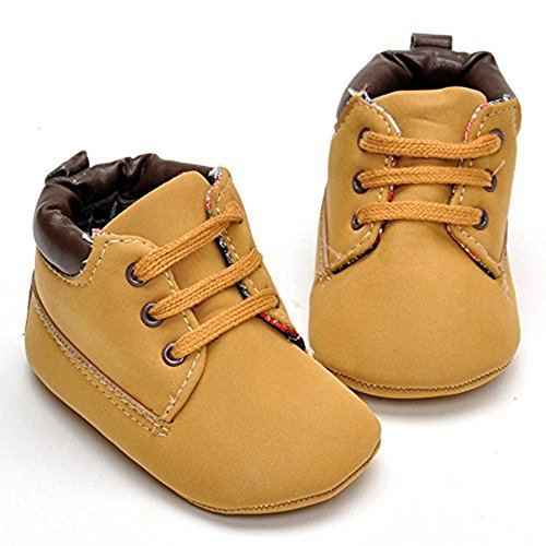 Image of Enteer Infant Boys High-Top Sneaker Brown Baby Shoes