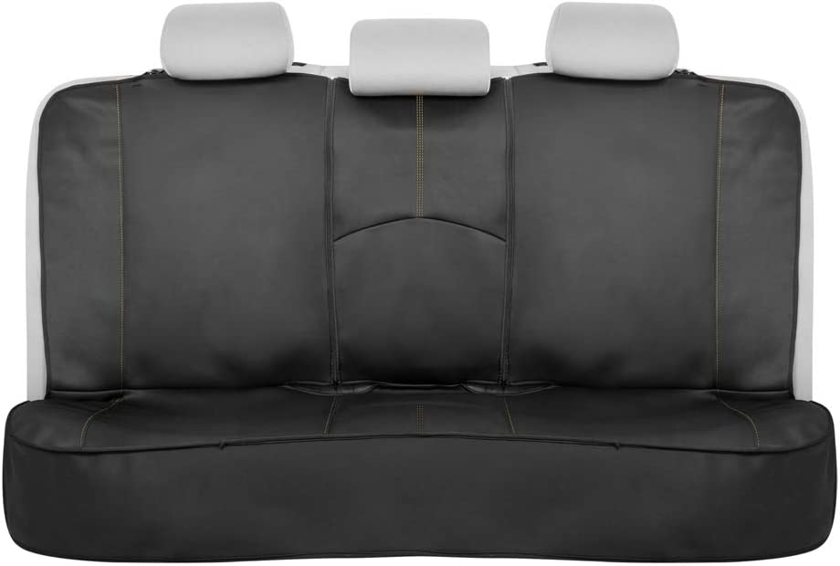 Van Universal Fit Neoprene Foam Bench Cover with Extended Side Coverage for Car Beige Stitching Truck Motor Trend M268 SpillGuard Waterproof Rear Seat Protector and SUV