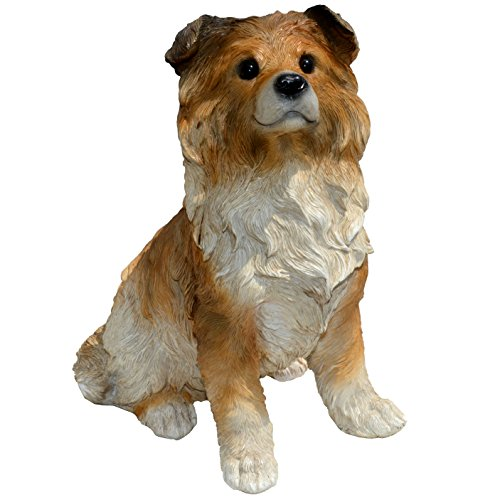 Michael Carr Designs 80107 Sheep-Collie Puppy Statue, Large ()
