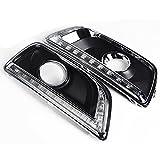 For 2012-2014 Chevrolet Malibu (8th Gen) Jaguar Tusk Style DRL Daytime Running Light Fog Lamp Cover