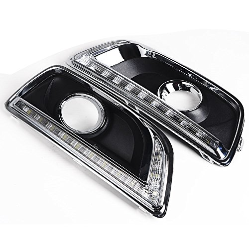 For 2012-2014 Chevrolet Malibu (8th Gen) Jaguar Tusk Style DRL Daytime Running Light Fog Lamp Cover by Astra Depot
