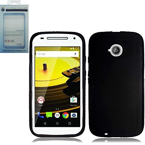 Pear Faceplate (HR Wireless Cell Phone Case for Moto E LTE 2015 2nd Generation - Retail Packaging - Black)