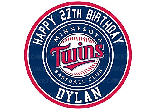 Minnesota Twins Edible Image Cake Topper Personalized Birthday 10