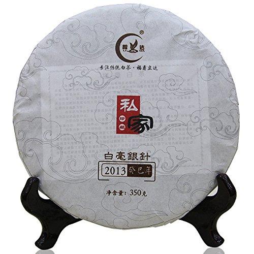 Lida - 2013yr Top Quality Fujian Bai Hao Yin Zhen Compressed Bai Hao Silver Needle White Tea Cake - 357g/12.6oz by Lida