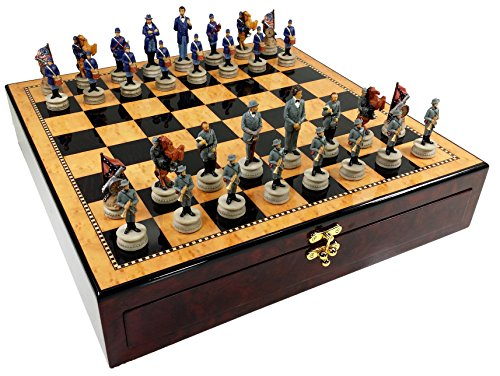 US American Civil War Chess Set W/ 17