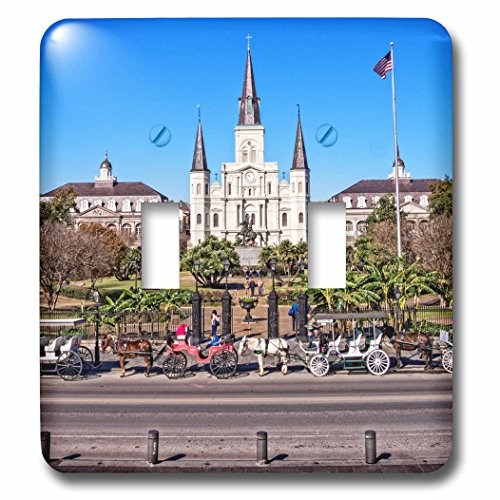 Boehm Photography Travel - Saint Louis Cathedral in New Orleans French Quarter - Light Switch Covers - double toggle switch (lsp_239373_2)