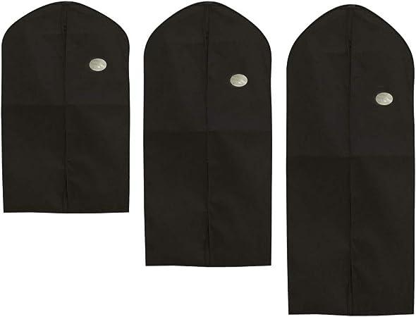 OUNONA Costume v/êtement Housse Sac de Voyage Placard Organiser v/êtements Housse 3pcs Noir