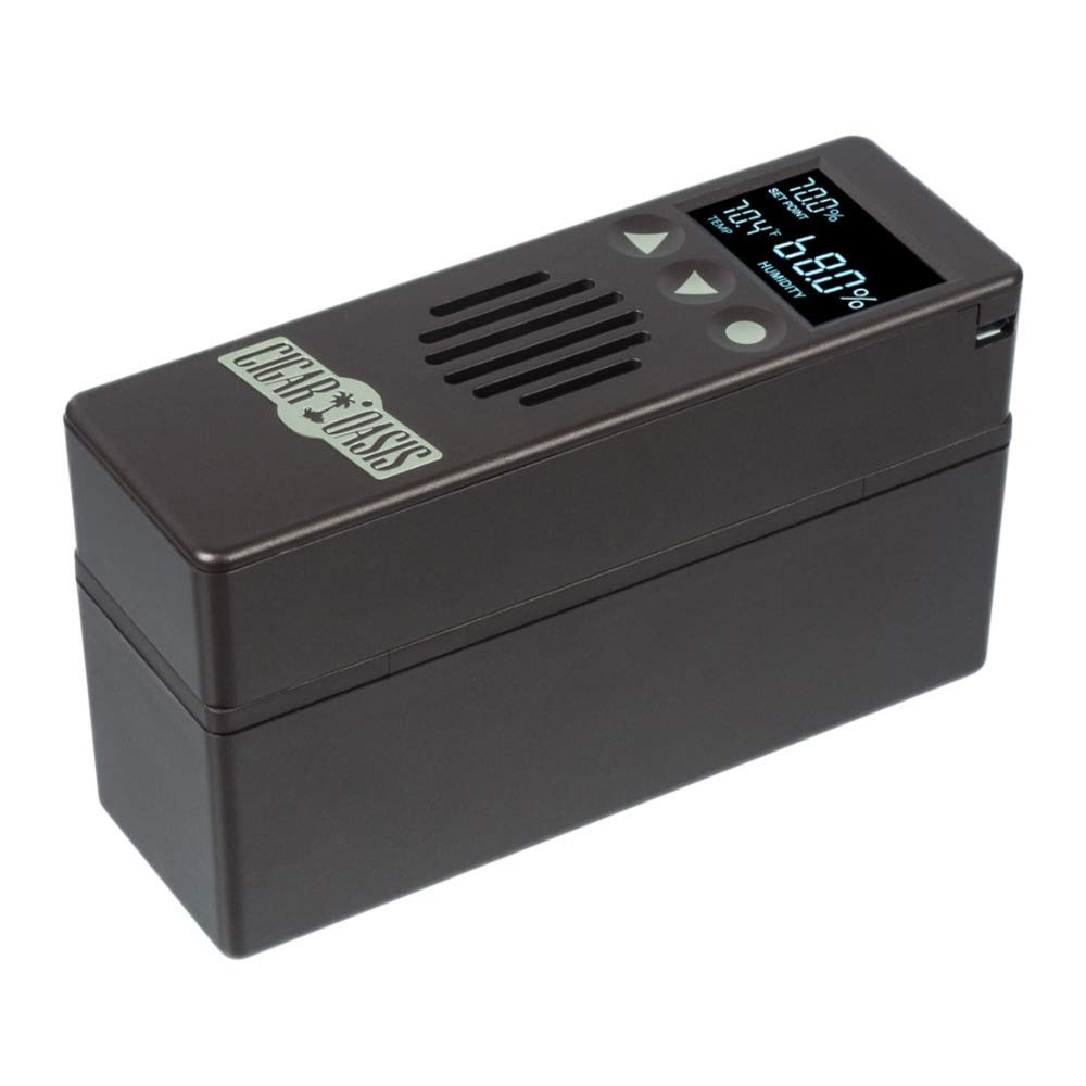 Cigar Oasis Plus 3.0 Electronic Cigar Humidifier with Digital Analog Hygrometer Bundle by Cigar Oasis (Image #5)