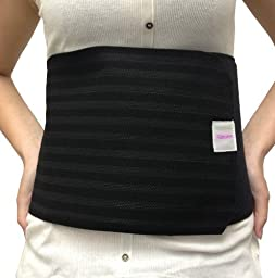 Gabrialla Breathable Abdominal Support Binder-Black-X-Large