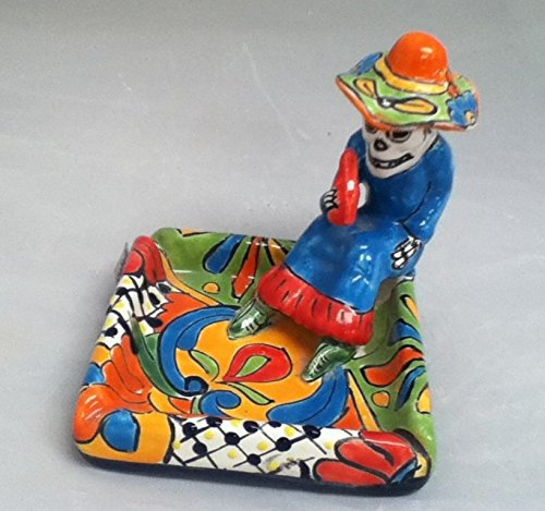 Talavera Pottery Store Day Of The Dead Ashtray (Multi)
