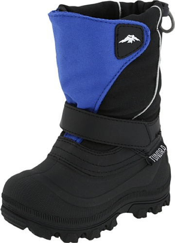 Tundra Quebec Wide Boot,Black/Royal,11 W US Little Kid by Tundra