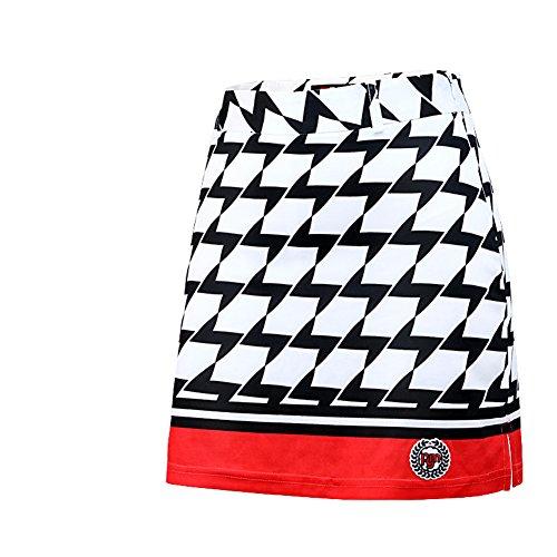 JP Flyer レディース スカート ゴルフウェア 格子 吸汗 通気 ストレッチ インナーパンツ付き スポーツ アウトドア
