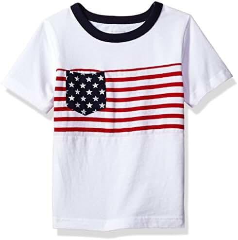 The Children's Place Toddler Boys' His Li'l Short Sleeve Americana T-Shirt