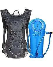 Unigear Trinkrucksack Hydrationspack mit 2L Trinkblase Fahrradrucksack für Joggen, Wandern, Radfahren, Camping und Bergsteig MEHRWEG