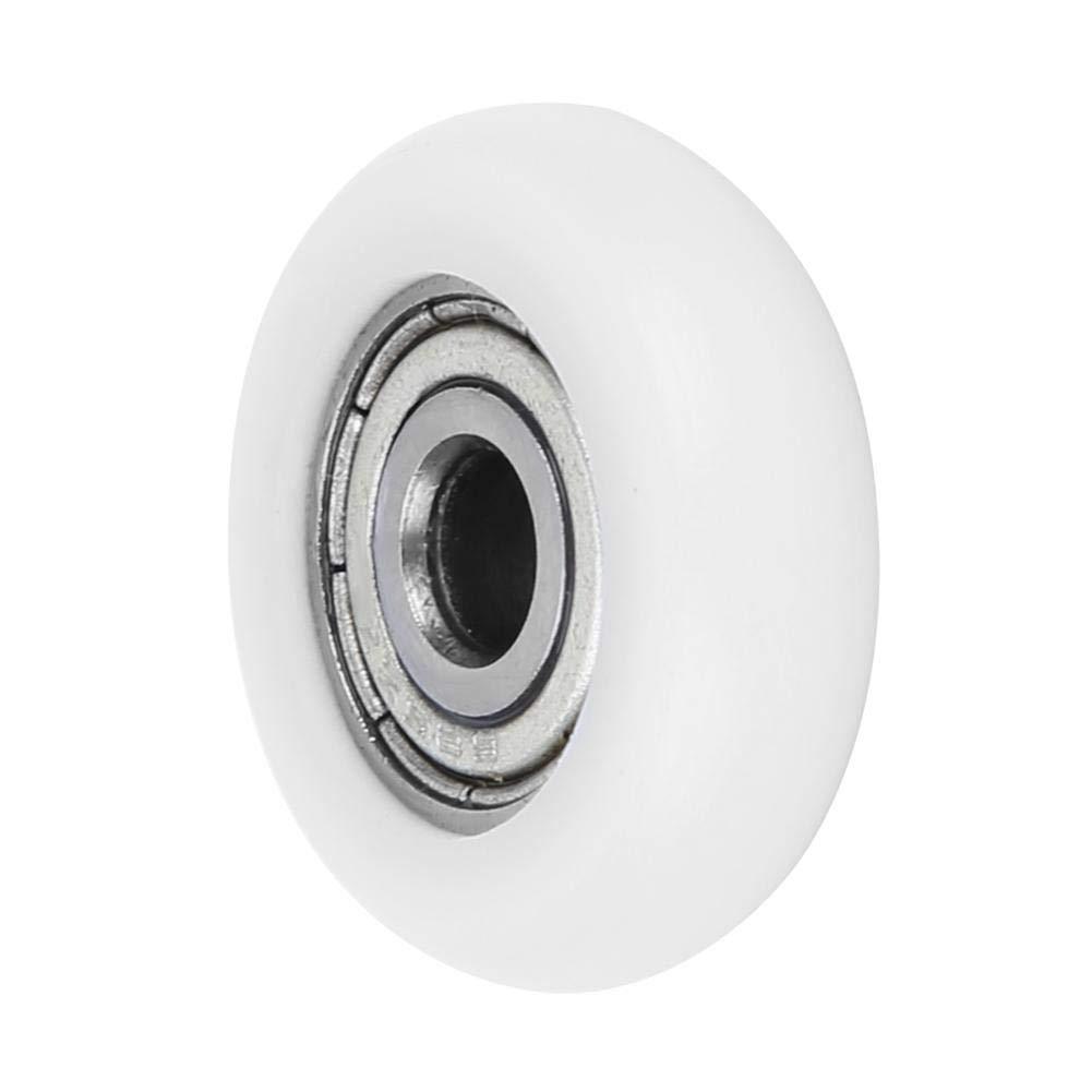 Roulement /à billes de cannelure profonde 10pcs le rouleau en plastique en nylon de haute qualit/é de poulie a incorpor/é des roulements /à billes de cannelure profonde pour industriel 5x23x7mm