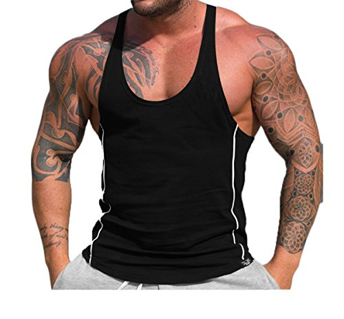 Vergiss Mens Fitness Gym Muscle Cut Stringer Bodybuilding Workout Sleeveless Tank Top Shirts