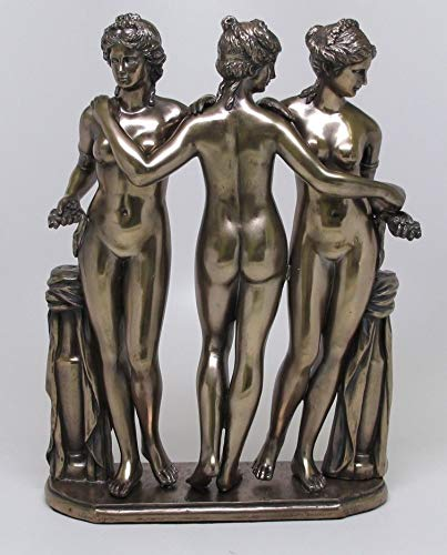 Figurine Three Graces Greek Goddesses Borghese Collection Statue Louvre Zeus