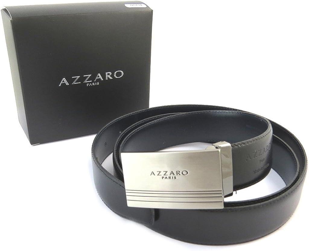 Leather belt Azzaronavy black 43.31 110 cm . 1.18 30 mm