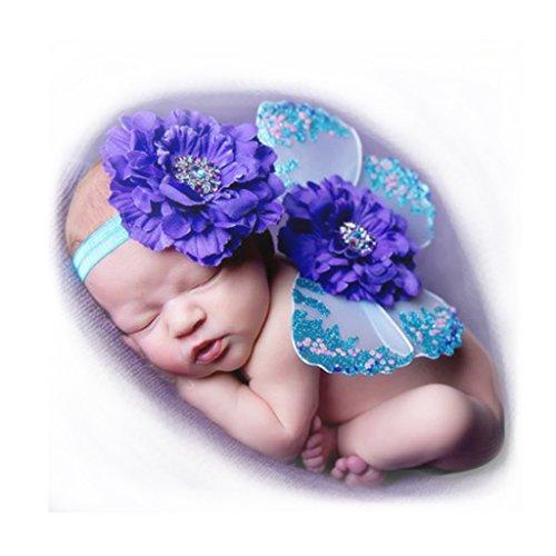 Newborn Baby Photography Props, Besutana Butterfly Flower Headband Wing Set